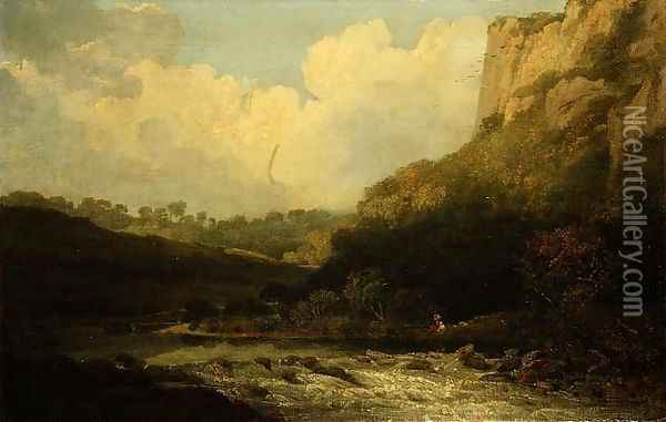 High Tor, Matlock, 1811 Oil Painting - John Crome