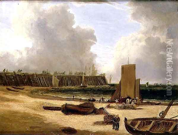 Yarmouth Old Pier Oil Painting - John Crome