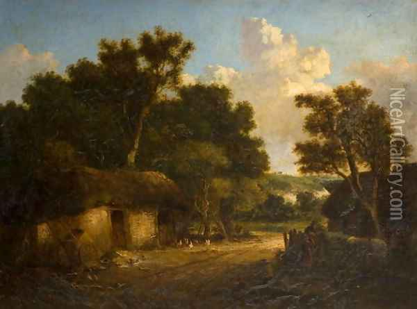 Landscape with Cottage Oil Painting - John Crome