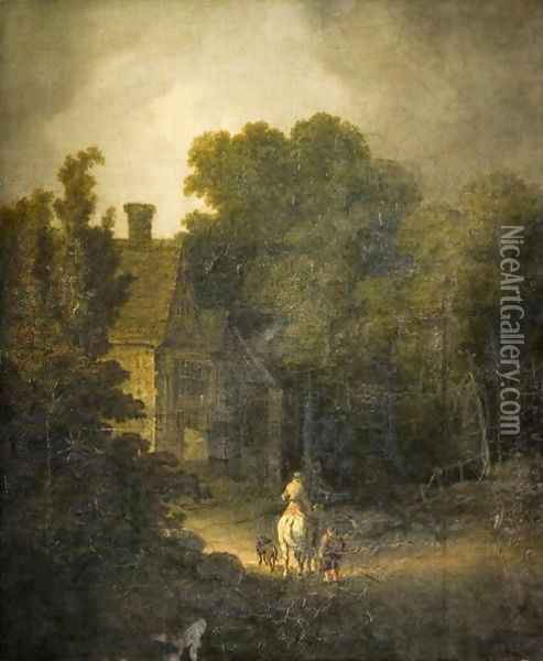 Landscape with Traveller Oil Painting - John Crome