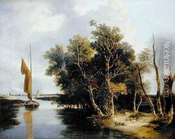 Wherries on the Yare Oil Painting - John Crome