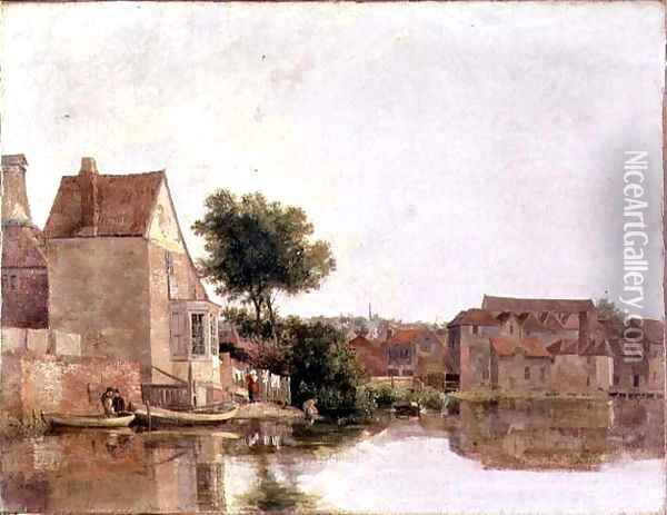 Back of the New Mills, c.1814-17 Oil Painting - John Crome