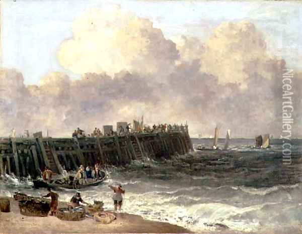 Yarmouth Jetty, c.1810 Oil Painting - John Crome