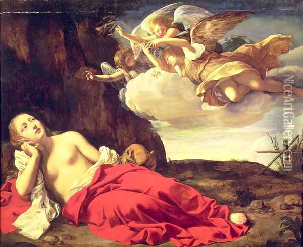 Penitent Mary Magdalene Oil Painting - Guido Cagnacci