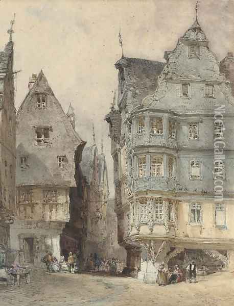 Dinan Oil Painting - William Callow