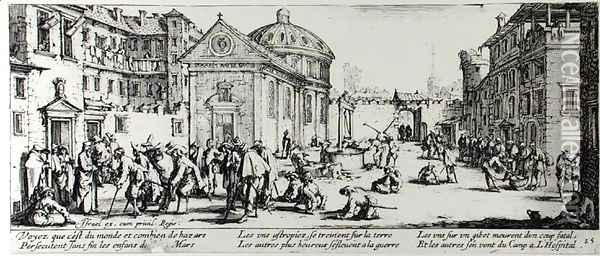 The Hospital, plate 15 from 'The Miseries and Misfortunes of War' 1633 Oil Painting - Jacques Callot