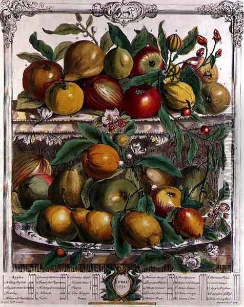 April, from 'Twelve Months of Fruits' Oil Painting - Pieter Casteels