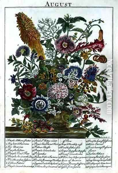 August, from 'The Flower Garden Displayed' Oil Painting - Pieter Casteels