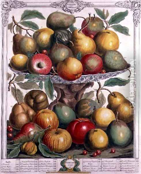 February, from 'Twelve Months of Fruits' Oil Painting - Pieter Casteels