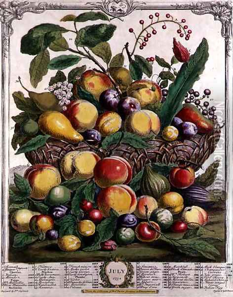 July, from 'Twelve Months of Fruits' Oil Painting - Pieter Casteels