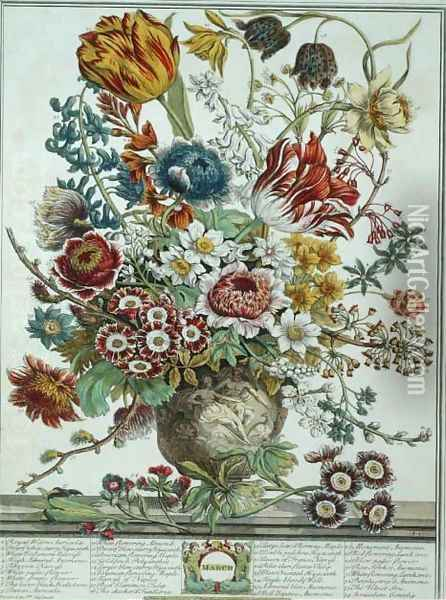 March, from 'Twelve Months of Flowers' Oil Painting - Pieter Casteels