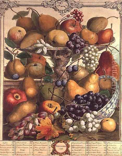 November, from 'Twelve Months of Fruits' Oil Painting - Pieter Casteels