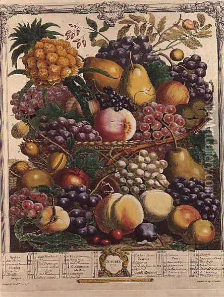 October, from 'Twelve Months of Fruits' Oil Painting - Pieter Casteels