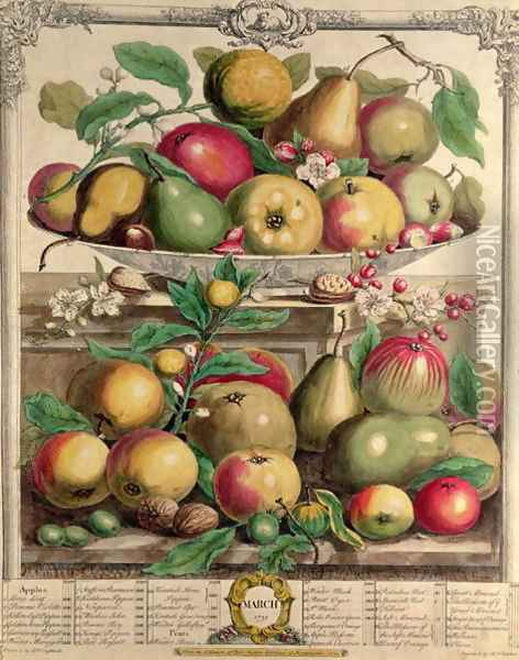 March, from 'Twelve Months of Fruits' Oil Painting - Pieter Casteels
