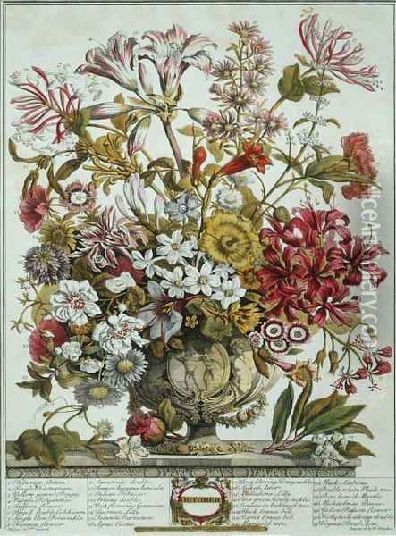 October, from 'Twelve Months of Flowers' Oil Painting - Pieter Casteels