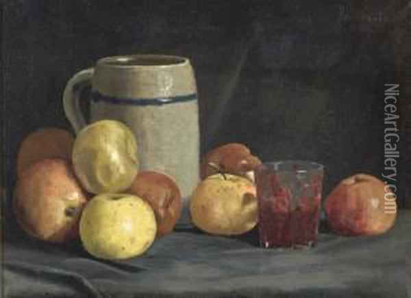 Still Life With Apples Oil Painting - Ben Foster