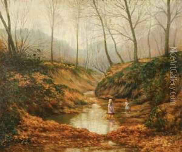 A Game In The Woods Oil Painting - Ben Foster