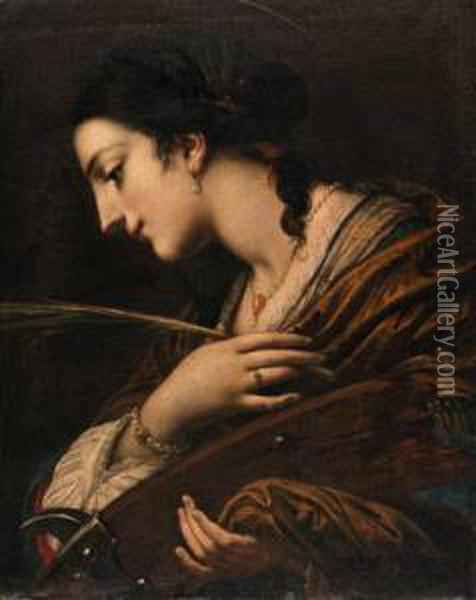 Saint Catherine Of Alexandria Oil Painting - Baldassarre Franceschini