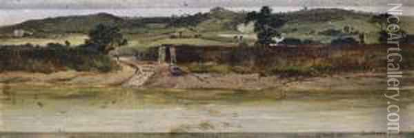 Snodland Ferry Oil Painting - Thomas William Roberts