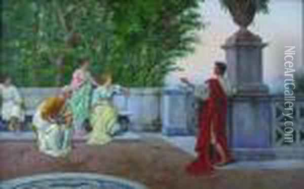 The Story Of Troy Oil Painting - Pietro Gabrini