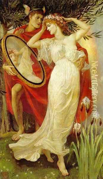 Art and Life, 1907 Oil Painting - Walter Crane
