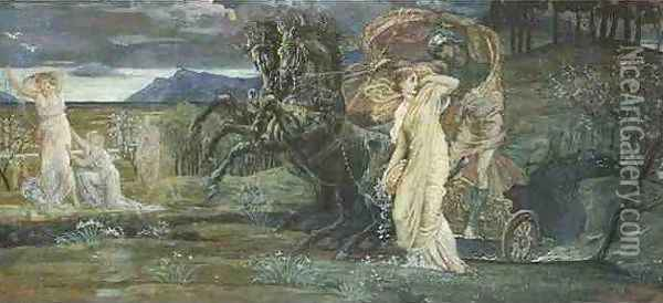 Study for The Fate of Persephone Oil Painting - Walter Crane