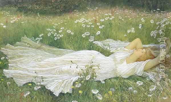 Summer, 1895 Oil Painting - Walter Crane