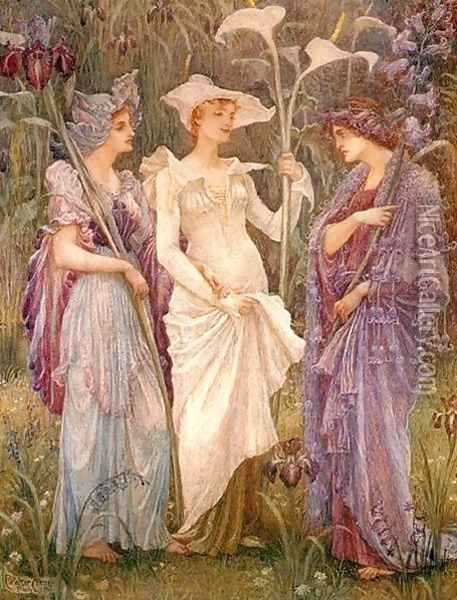Signs of Spring Oil Painting - Walter Crane