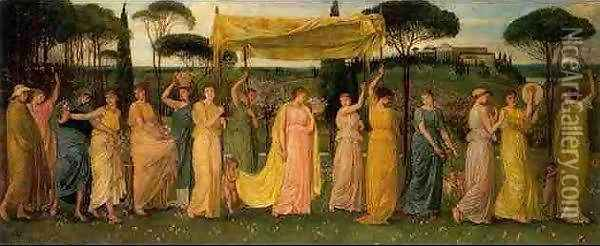 The Advent of Spring Oil Painting - Walter Crane