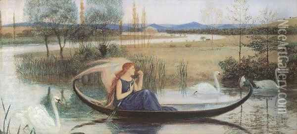 My Soul Is an Enchanted Boat (detail) Oil Painting - Walter Crane