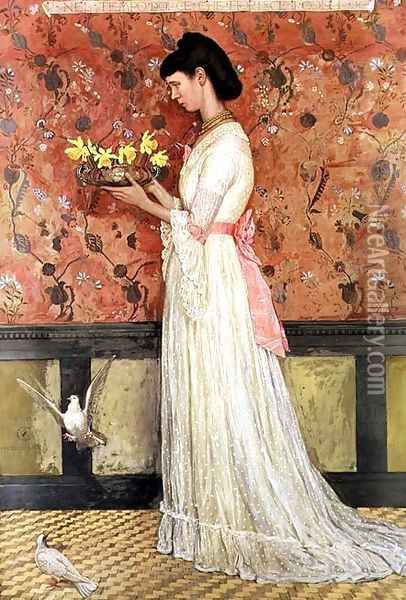 Portrait of Mrs Ingram Bywater, 1872 Oil Painting - Walter Crane