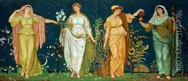 The Seasons 2 Oil Painting - Walter Crane