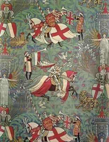 England and France Oil Painting - Walter Crane
