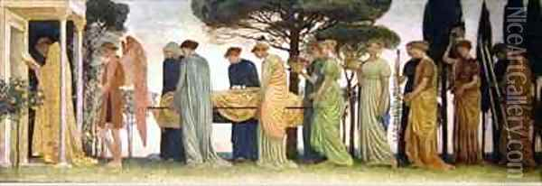 The Death of the Year 2 Oil Painting - Walter Crane