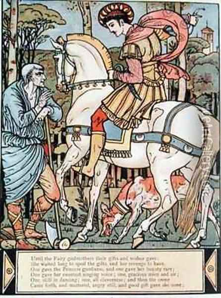 The Prince consulting a peasant Oil Painting - Walter Crane