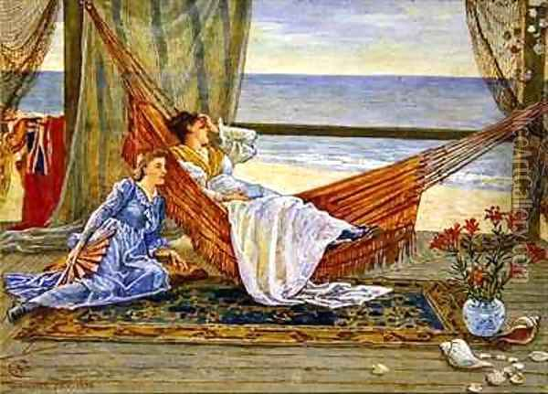 In the Beach House 2 Oil Painting - Walter Crane