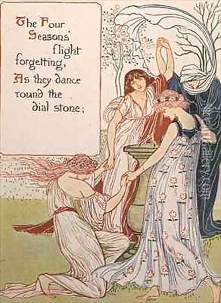 The Four Seasons 2 Oil Painting - Walter Crane