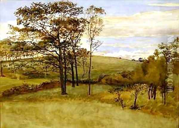 Late Summer Landscape 2 Oil Painting - Walter Crane