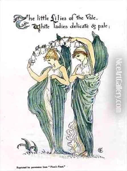 Lilies of the Vale Oil Painting - Walter Crane