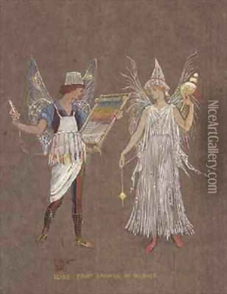 The Snowman Oil Painting - Walter Crane