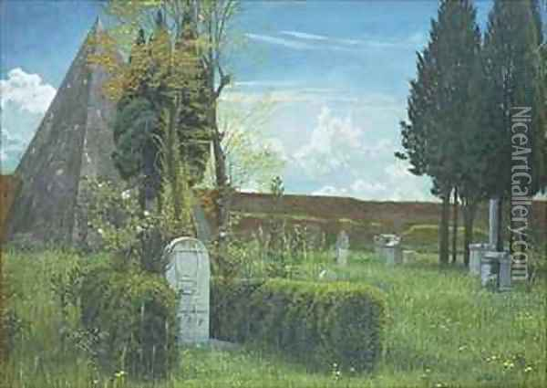The Grave of Shelley Oil Painting - Walter Crane