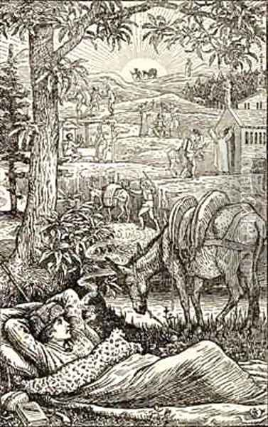 Frontispiece for Travels with a Donkey in the Cevennes Oil Painting - Walter Crane
