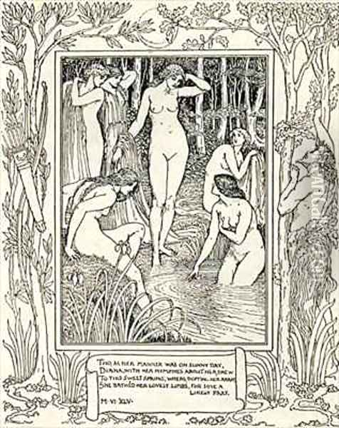 Diana and her nymphs Oil Painting - Walter Crane
