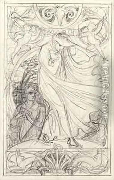Preparatory drawing for a calendar Oil Painting - Walter Crane