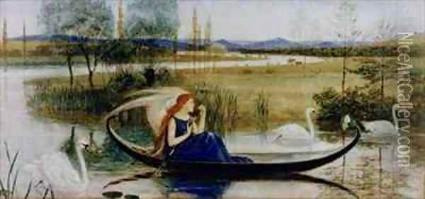 My Soul is an Enchanted Boat Oil Painting - Walter Crane