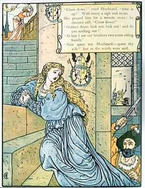 O Sister Anne do you nothing see Oil Painting - Walter Crane