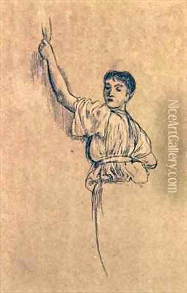 Study of a Maiden for The Advent of Spring Oil Painting - Walter Crane