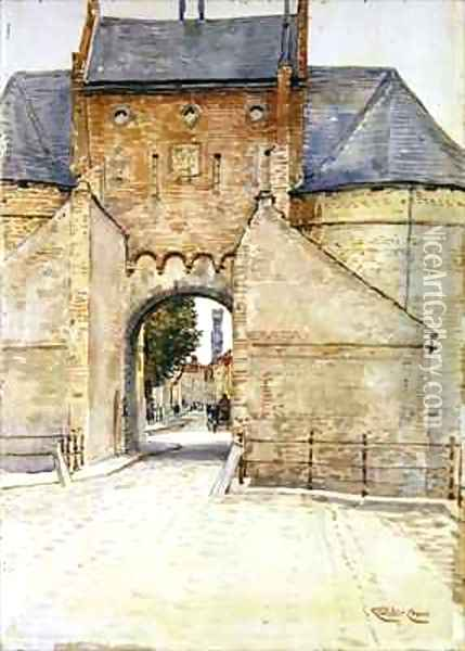The Gate Tower Oil Painting - Walter Crane