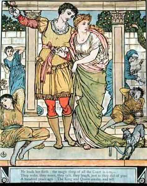The Prince rescuing the princess Oil Painting - Walter Crane
