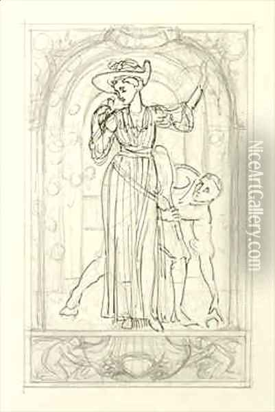 Preparatory drawing for a calendar 2 Oil Painting - Walter Crane